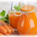 Морковь, сок в стакане