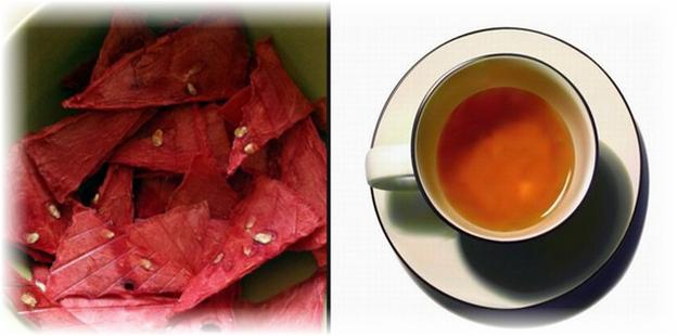 чай и сушеный арбуз